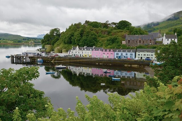 Portree harbour/port